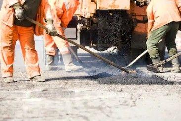 Obras de pavimentação